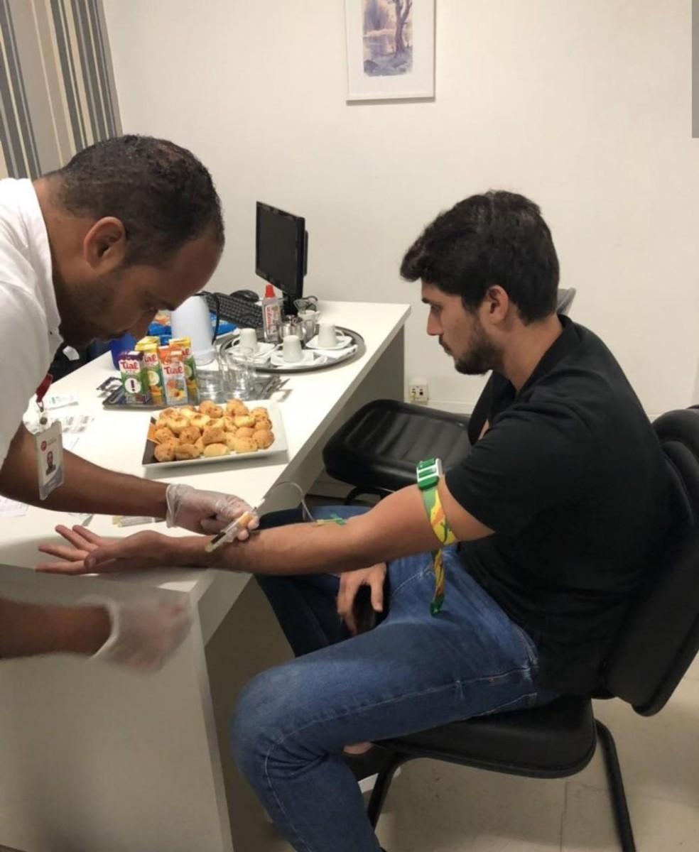 Igor Rabello passou por exames na manhã desta quinta-feira em BH — Foto: Anselmo Paiva