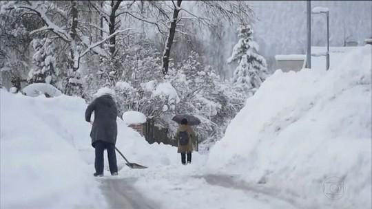 Nevascas provocam transtornos na Europa