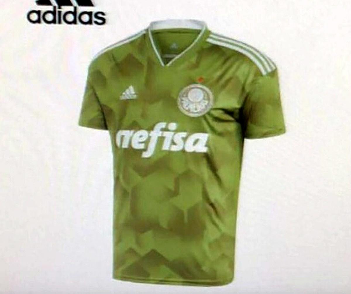Verde militar  vaza provável nova camisa 3 do Palmeiras  a5cd5d03fa36b