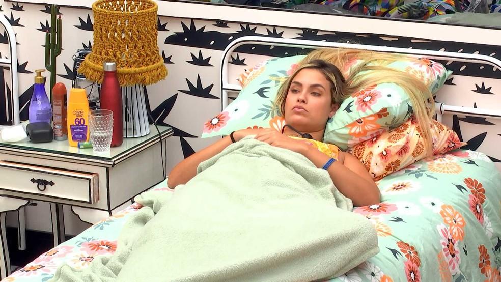 Sarah comenta sobre Rodolffo no BBB21: 'Se eu ganhar o Anjo, acho que dou para ele' — Foto: Globo
