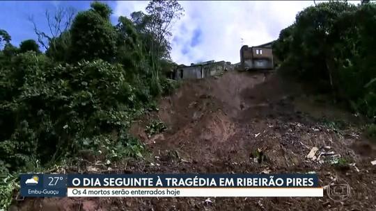 Chuvas deixam quatro mortos, sendo três irmãos, em Ribeirão Pires