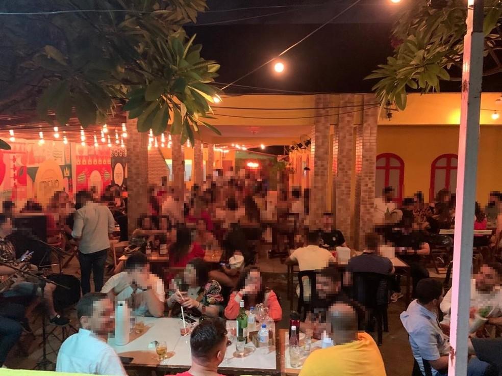 Fiscalização autuou bares na capital piauiense — Foto:  Divulgação/Vigilância Sanitária