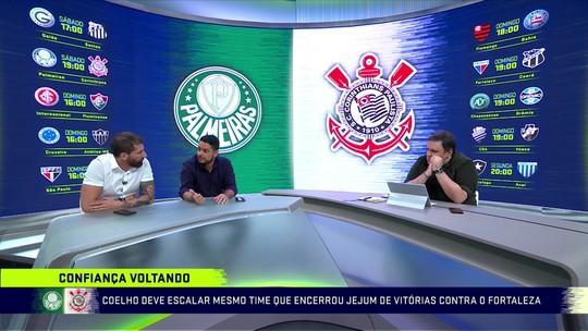 """Henrique Fernandes aponta para """"carguinha a mais de pressão"""" do Palmeiras diante do Corinthians"""