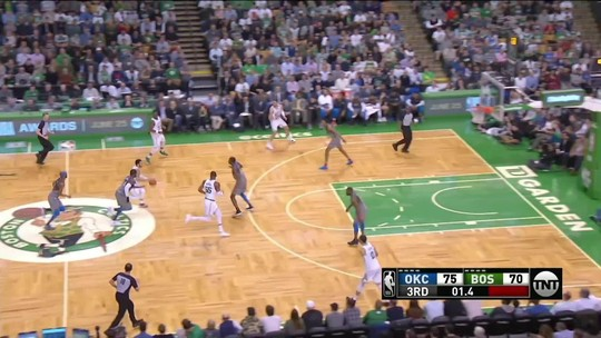 Melhores momentos: Oklahoma City Thunder 99 x 100 Boston Celtics pela NBA