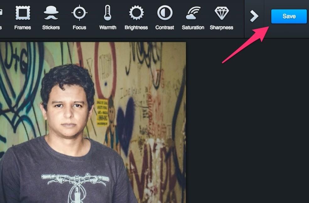 3a226708c0 ... Tela para edição de imagens do serviço online Postgrain (Foto:  Reprodução/Marvin Costa