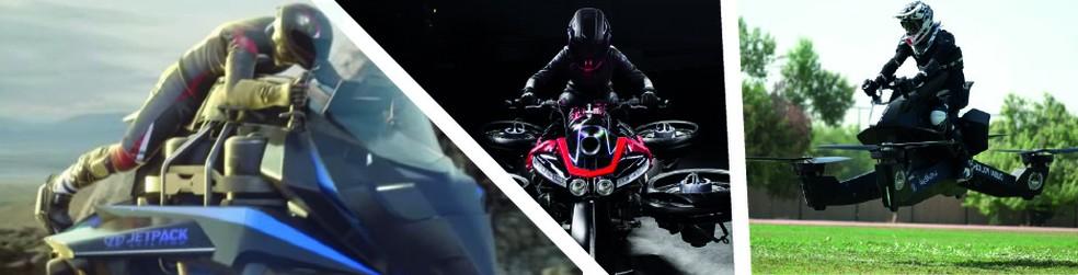 Conheça os diferentes tipos de motos voadoras — Foto: Wagner Magalhaes / G1
