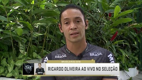 """Ricardo Oliveira mantém no Galo números do início da carreira: """"Não fui pego de surpresa"""""""