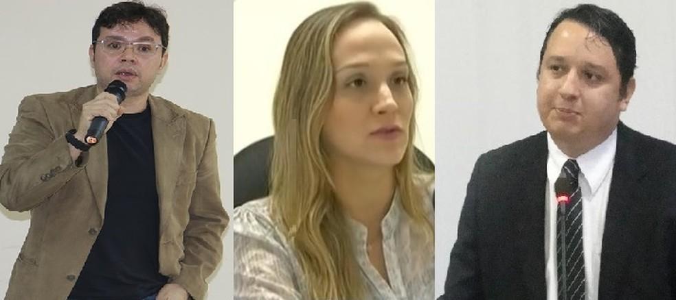 Promotores eleitorais Túlio Novaes, Larissa Brandão e Ramon Furtado — Foto: Divulgação