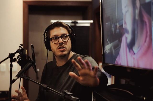 Fabio Porchat grava o novo especial em estúdio (Foto: Divulgação)