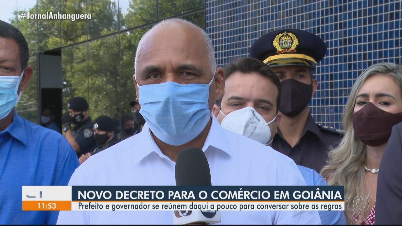 Prefeito e governador se reúnem para conversar sobre regras de novo decreto em Goiânia