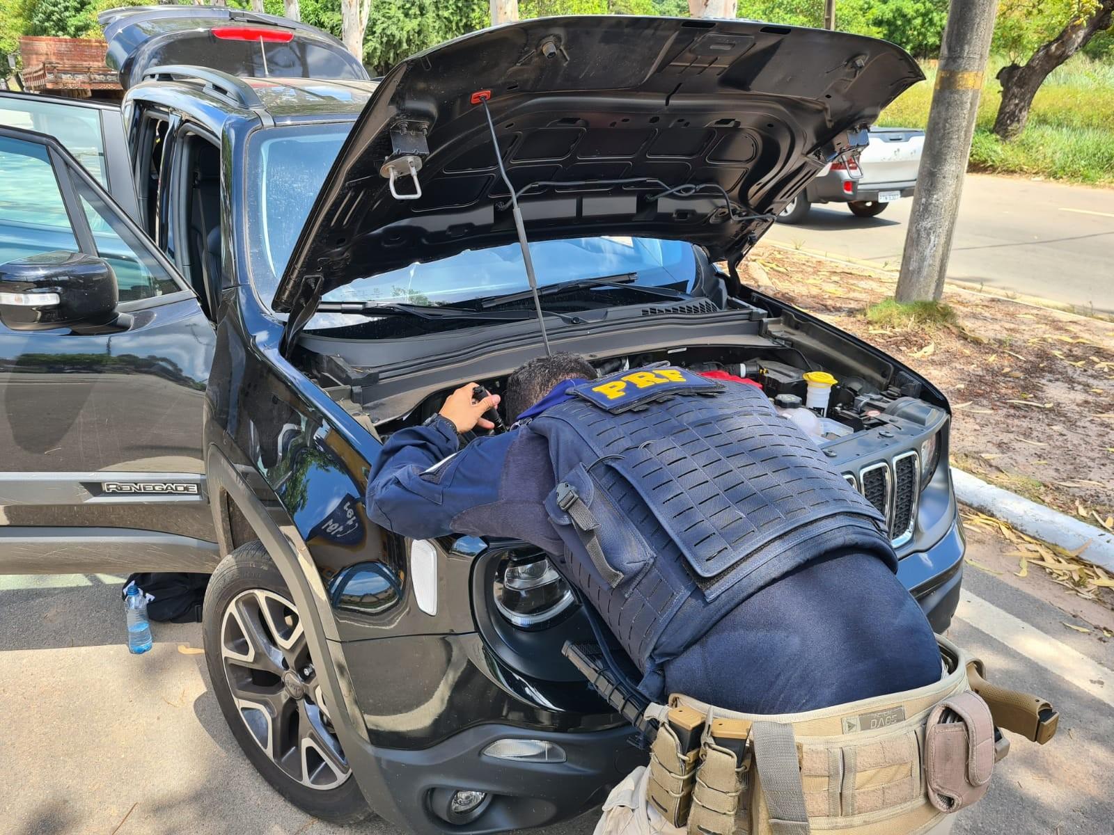 Polícia Rodoviária Federal apreende veículo adulterado na BR-135 no MA