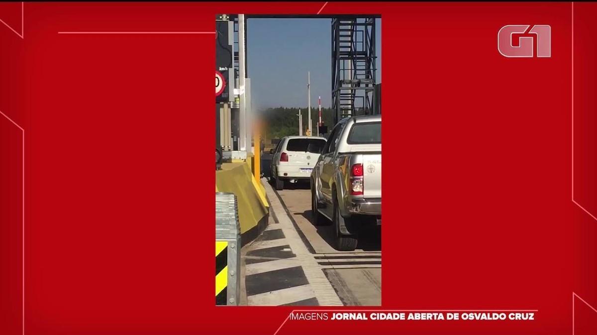 Motorista agride funcionário de praça de pedágio em Parapuã; veja VÍDEO