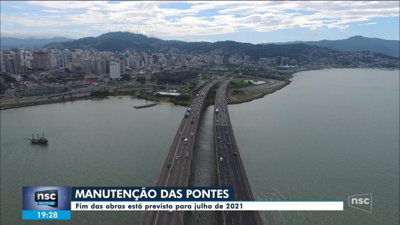 Governador faz vistoria nas obras das pontes Pedro Ivo e Colombo Salles