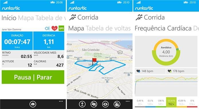 Runstatic é um aplicativo para celulares que rastreia atividades físicas do usuário (Foto: Divulgação/Windows Store)