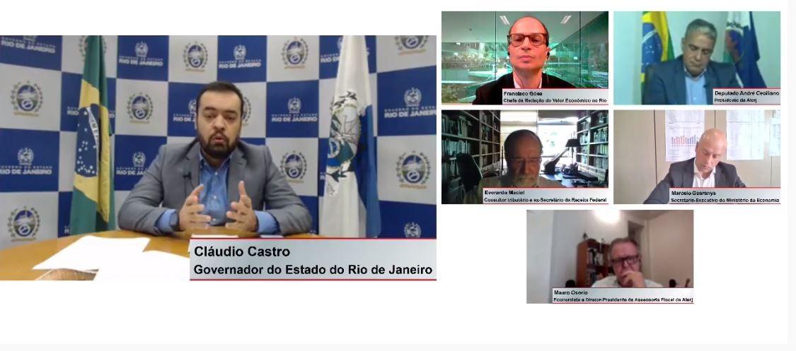 Claudio Castro diz que pode entrar na Justiça e suspender pagamento de dívidas com a União se o RJ for prejudicado no Regime de Recuperação Fiscal