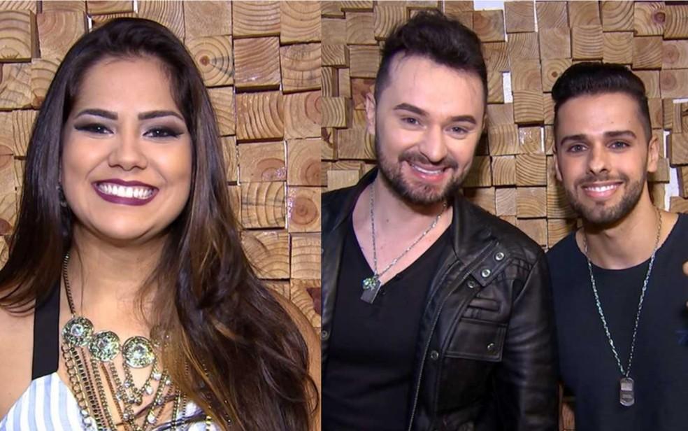 -  Letícia Mendez e Victor e Neto disputam a preferência do público  Foto: Reprodução/TV Anhanguera