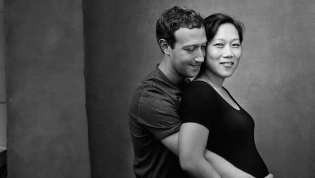 Zuckerberg também compartilhou essa foto com Priscilla grávida (Foto: Mark Zuckerberg/Facebook via BBC)
