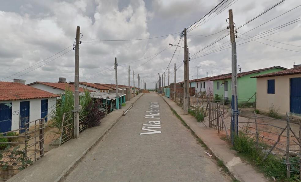 Investida criminosa ocorreu na Vila Holandesa, que fica na zona rural de Moreno, no Grande Recife — Foto: Reprodução/Google Street View