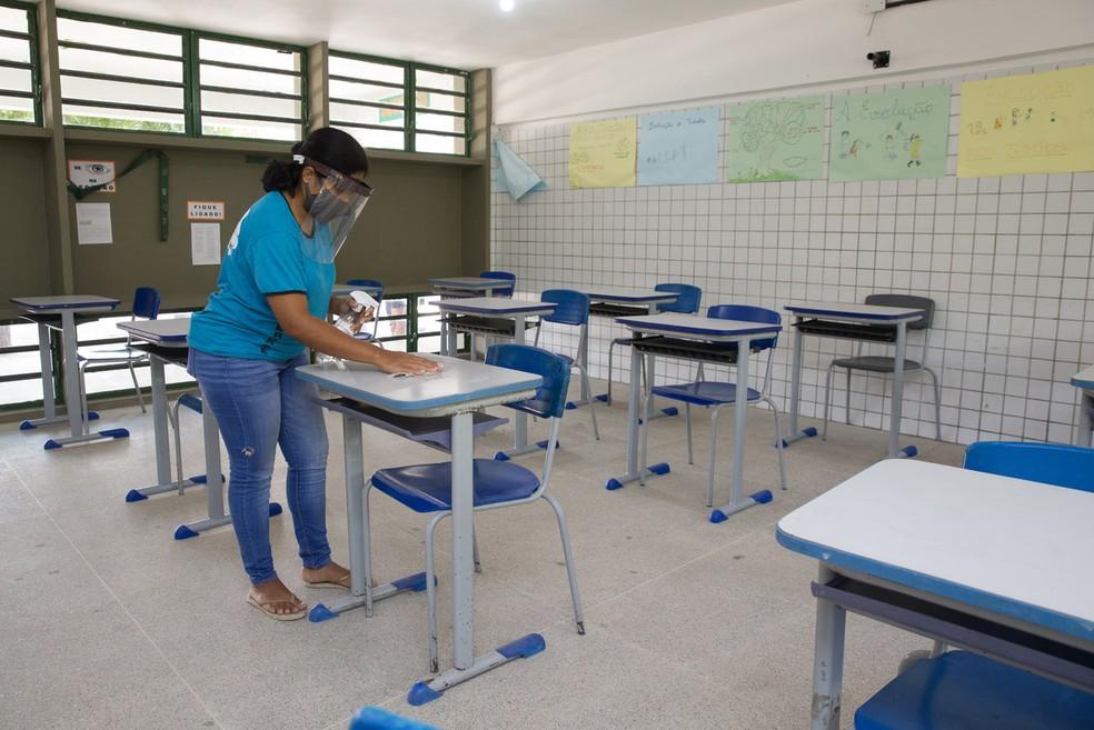 Escola municipal de Fortaleza  — Foto: Fabiene de Paula/SVM