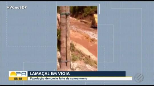 População denuncia paralisação de obras de saneamento em Vigia, PA