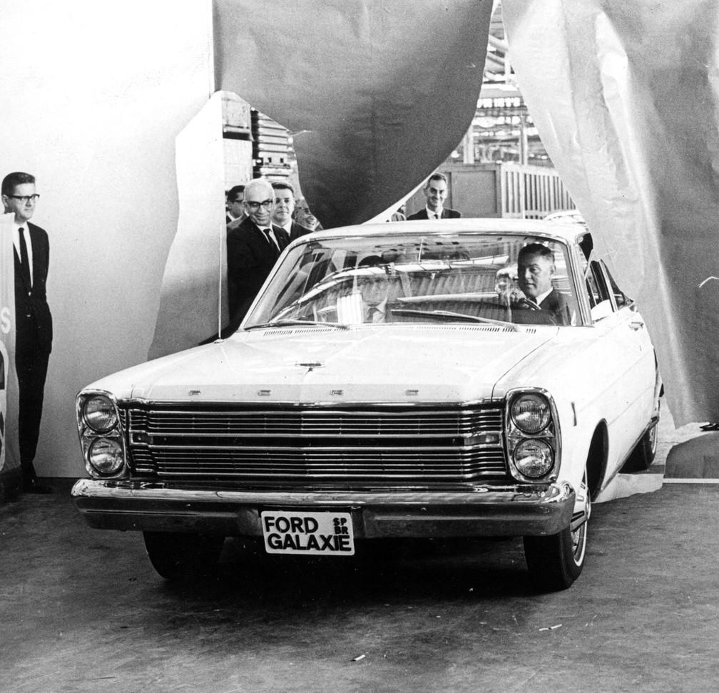Ford Motors do Brasil lança o modelo Galaxie, em fevereiro de 1967 — Foto: Rolando de Freitas/Estadão Conteúdo/Arquivo