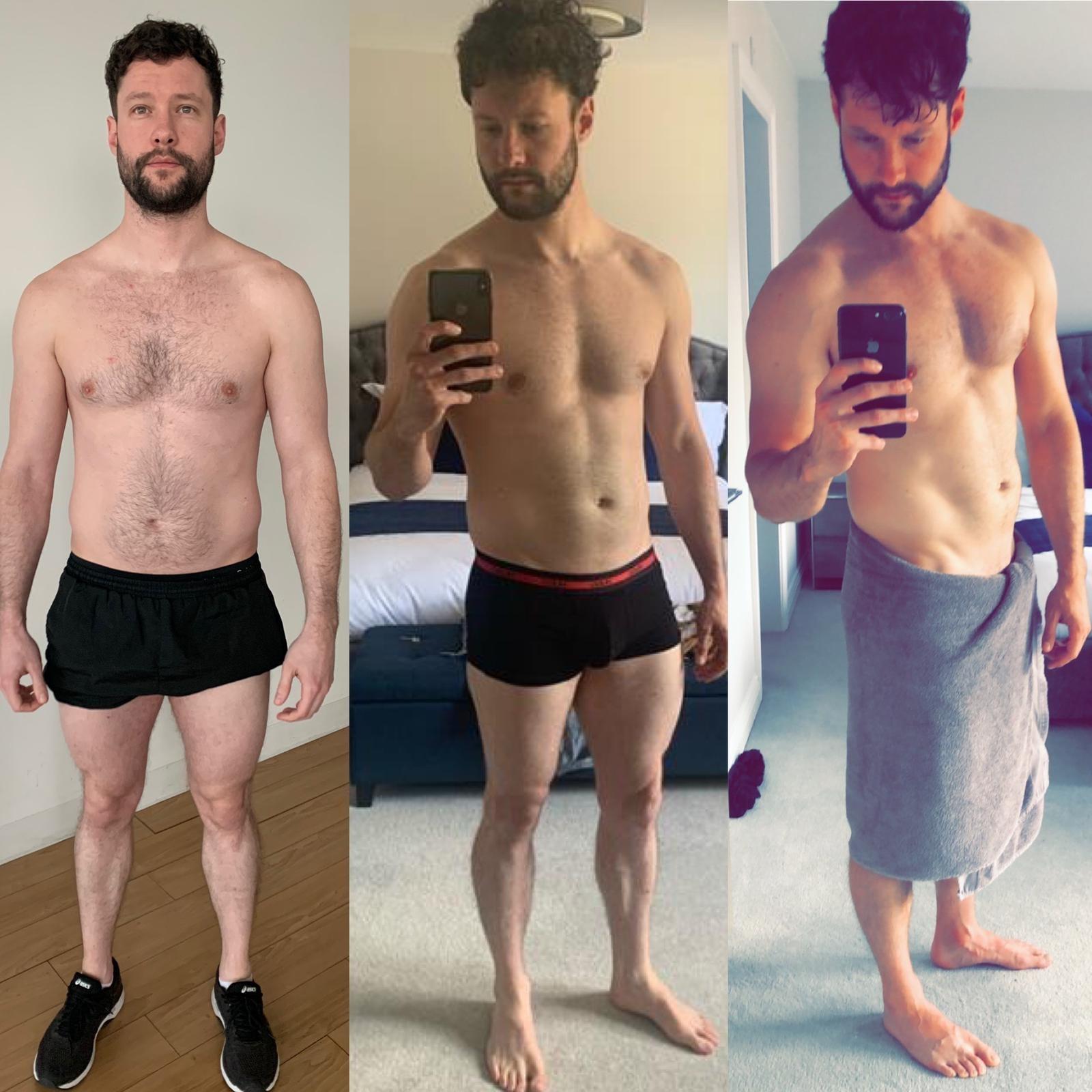 O antes de depois de Callum Scott (Foto: Reprodução Instagram)