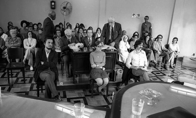 Julgamento de quatro dos sequestradores de Giovanni Bucher, em agosto de 1972