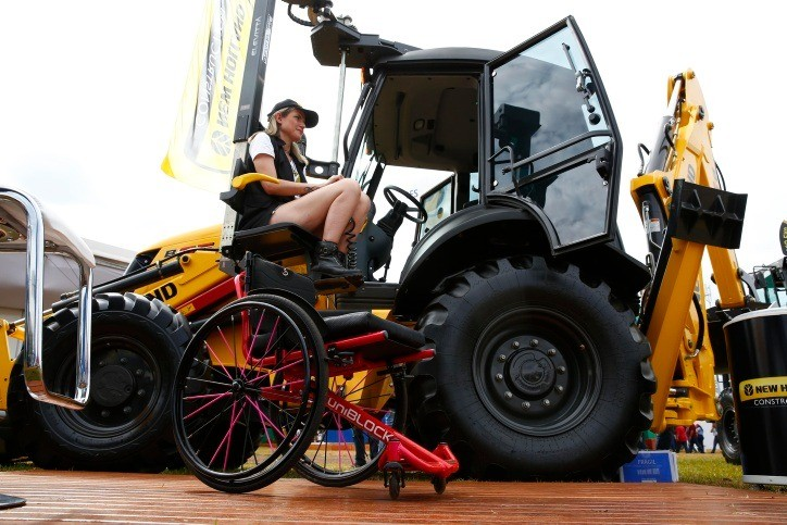 inclusao-deficiente-new-holland-agrishow-2019 (Foto: Joel Silva/Ed. Globo)