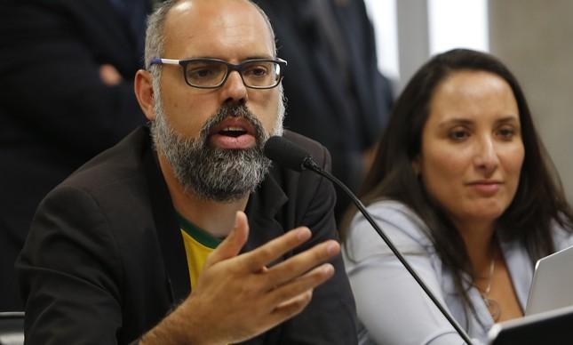 Allan dos Santos, do Terça Livre, na CPI das Fake News