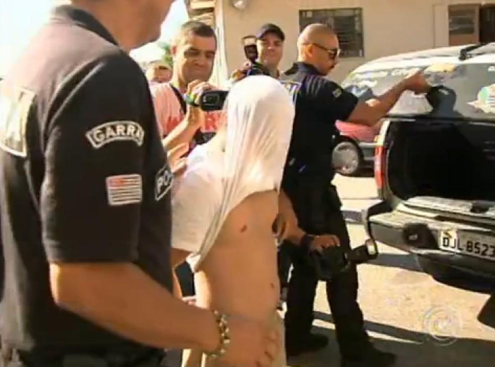 O comerciante foi solto da penitenciária de Tremembé, no Vale do Paraíba, 18 dias depois do acidente  (Foto: Reprodução/TV TEM)