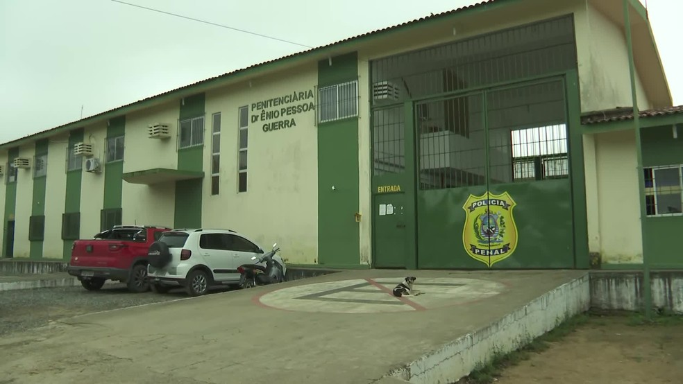 Penitenciária Doutor Ênio Pessoa Guerra, em Limoeiro, no Agreste de Pernambuco, a cerca de 80 quilômetros do Recife — Foto: Reprodução/TV Globo