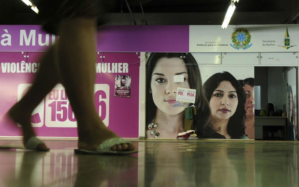 Posto da Delegacia Especial da Mulher dentro de estação de metrô no Plano Piloto, em Brasília (Foto: Pedro Ventura/Agência Brasília/Divulgação)