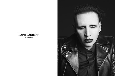 Marilyn Manson no pre-fall 2013 da Saint Laurent