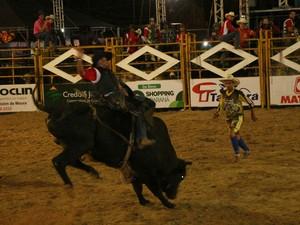 Peões e várias cidade participam da competição na Expojipa (Foto: Elaine Pereira/Expojipa)