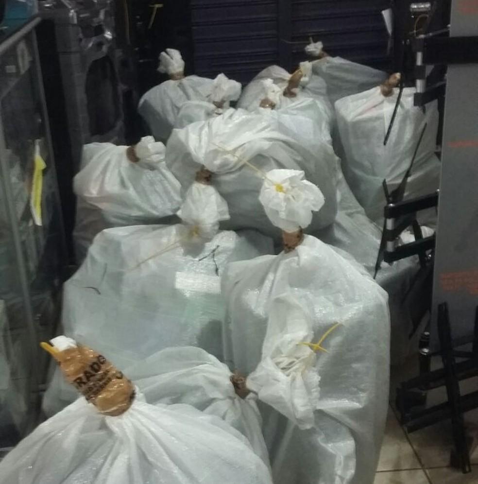 -  Objetos apreendidos em operação nesta terça-feira  14   Foto: Vanessa Fontanella/G1