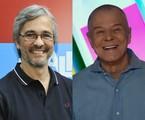 Paulo Silvestrini e Miguel Falabella | TV Globo e reprodução