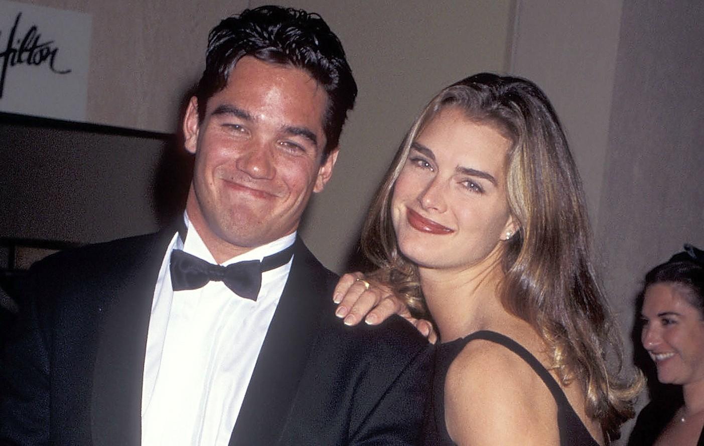 Há 19 anos: Brooke Shields e Dean Cain em novembro de 1995. (Foto: Getty Images)