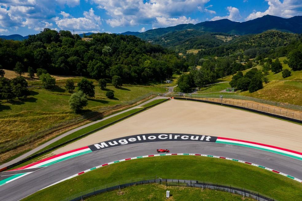 Ferrari testa em Mugello — Foto: Reprodução Scuderia Ferrari