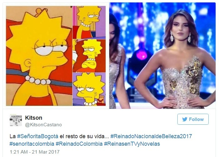 A expressão de Vanessa foi comparada a algumas clássicas de Lisa Simpson
