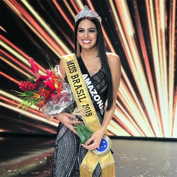 A Miss Amazonas e Miss Brasil 2018, Mayra Dias (Foto: Divulgação/Band)
