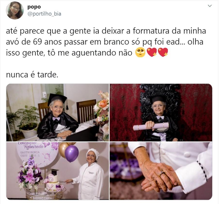 Postagem viralizada de Bia Portilho (Foto: Reprodução )
