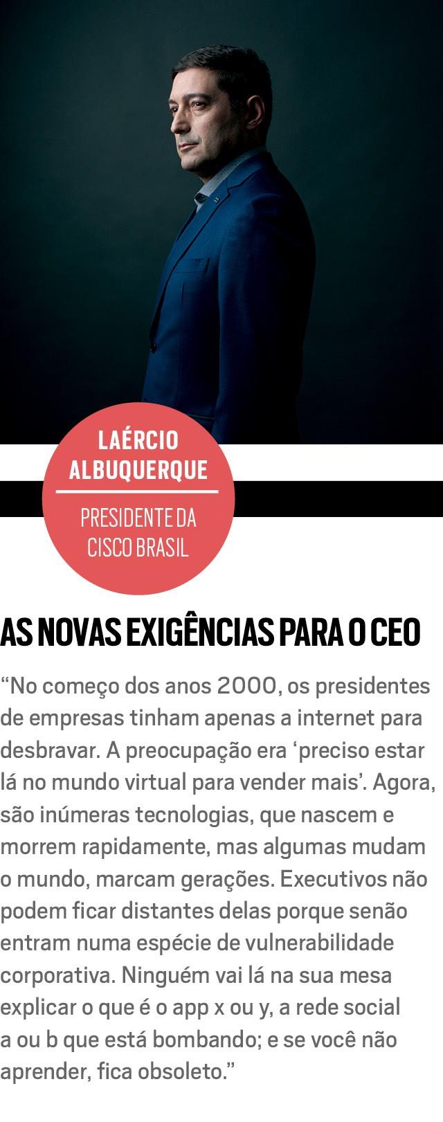 LAÉRCIO ALBUQUERQUE, presidente da Cisco Brasil (Foto: Marcus Steinmeyer)