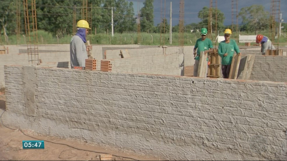 Apenas 10% da obra da ZPE foi concluída até o momento (Foto: TVCA/Reprodução)