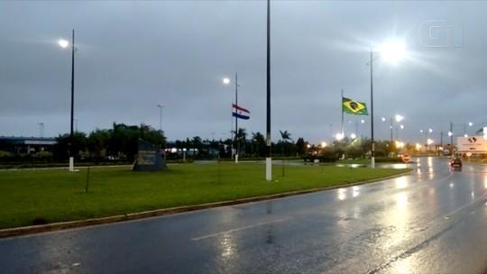 Temporais com muita chuva e ventos atingem vários municípios do cone sul de MS