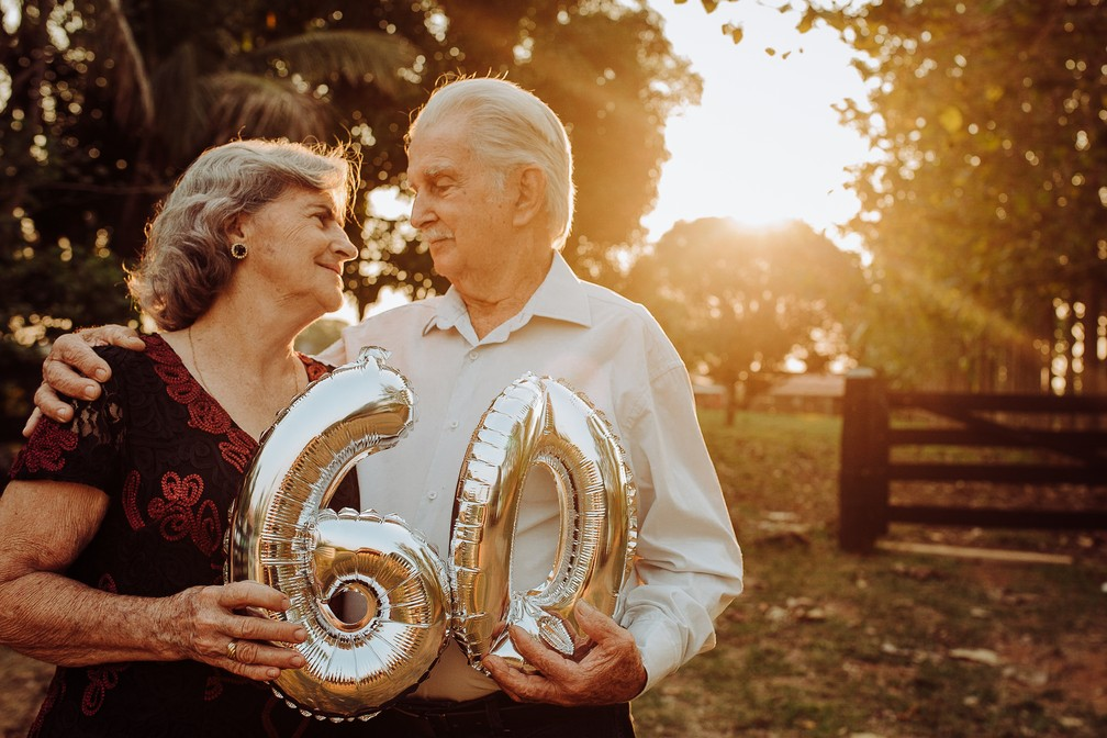 Casal comemora 60 anos (Foto: Gabriel Rodrigues/Reprodução)