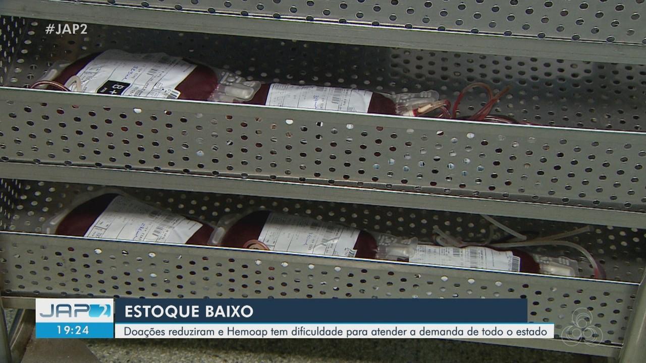 Hemoap registra estoque baixo mais uma vez e dificuldades para conseguir novas doações
