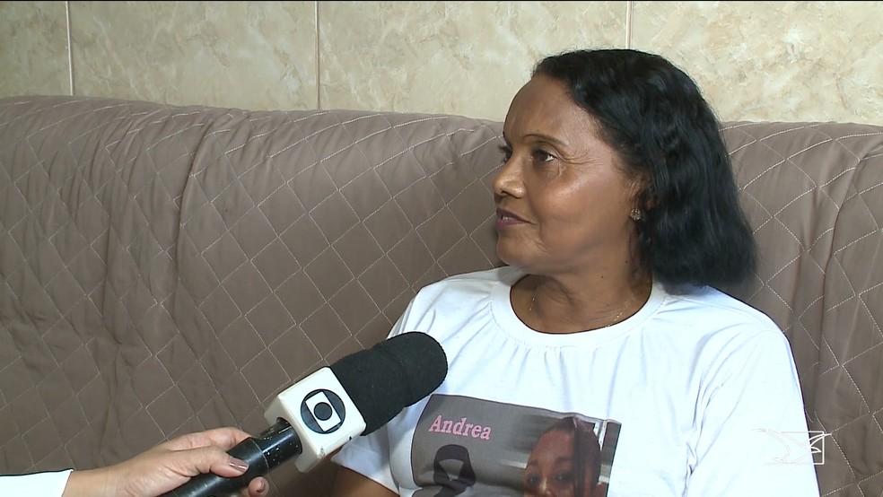 A servidora pública Ana Paula conta que vive momentos de dor após a morte da filha, que foi vítima de feminicídio (Foto: Reprodução/TV Mirante)