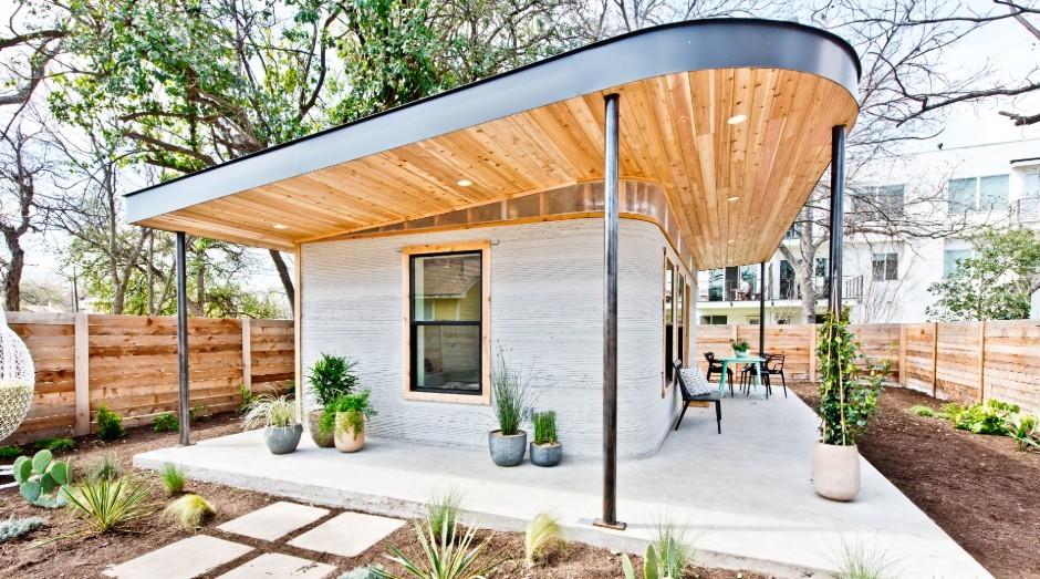 A casa protótipo construída pela Icon em parceria com a ONG New Story (Foto: Divulgação)