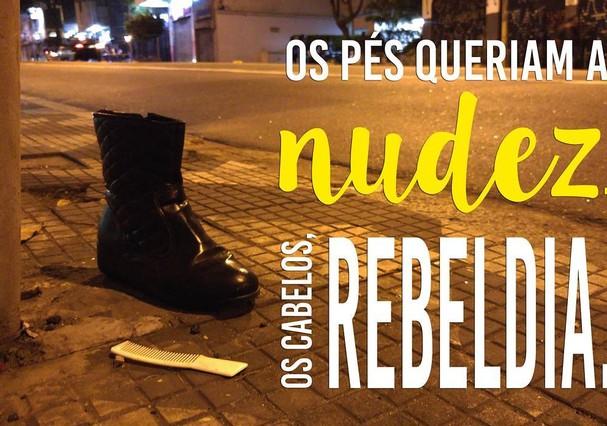 Botinha com pente? rebeldia e nudez (Foto: Reprodução/Instagram)