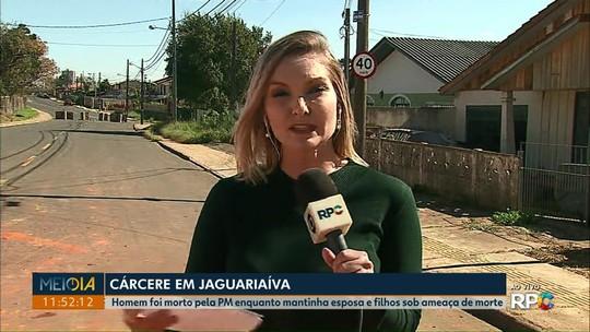 Homem é morto por policial após manter esposa e filhos em cárcere privado em Jaguariaíva, diz PM